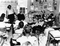 Makeshift school for black students in Virginia: 1961