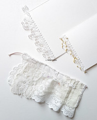 beaded page edges and embroidered vintage cloth