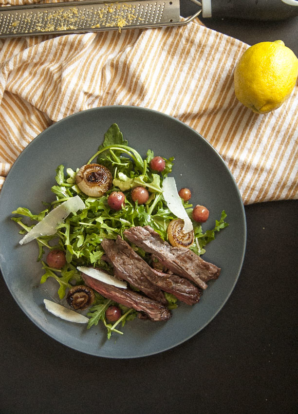 Thyme Roasted Grape Steak Salad 1