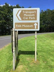 Ulster Folk and Transport Museum Entrance Signs