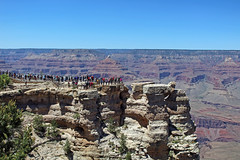 Tourists at Mather Point