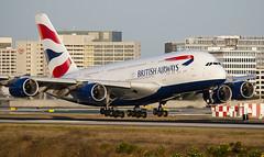British Airways Airbus A380 G-LXED