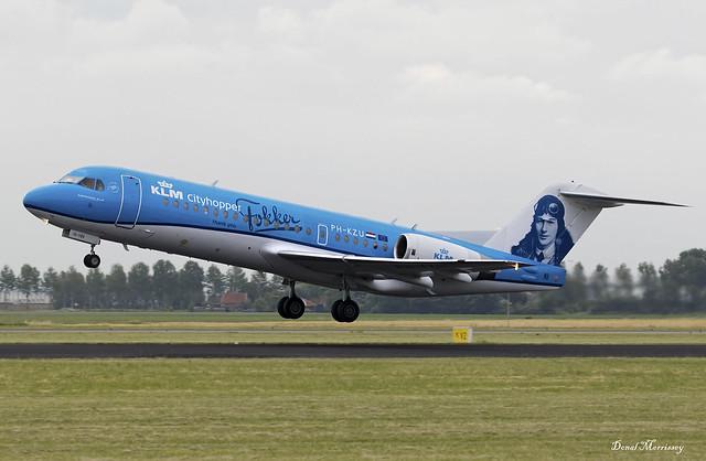 KLM Cityhopper (Anthony Fokker Livery) Fokker 70 PH-KZU
