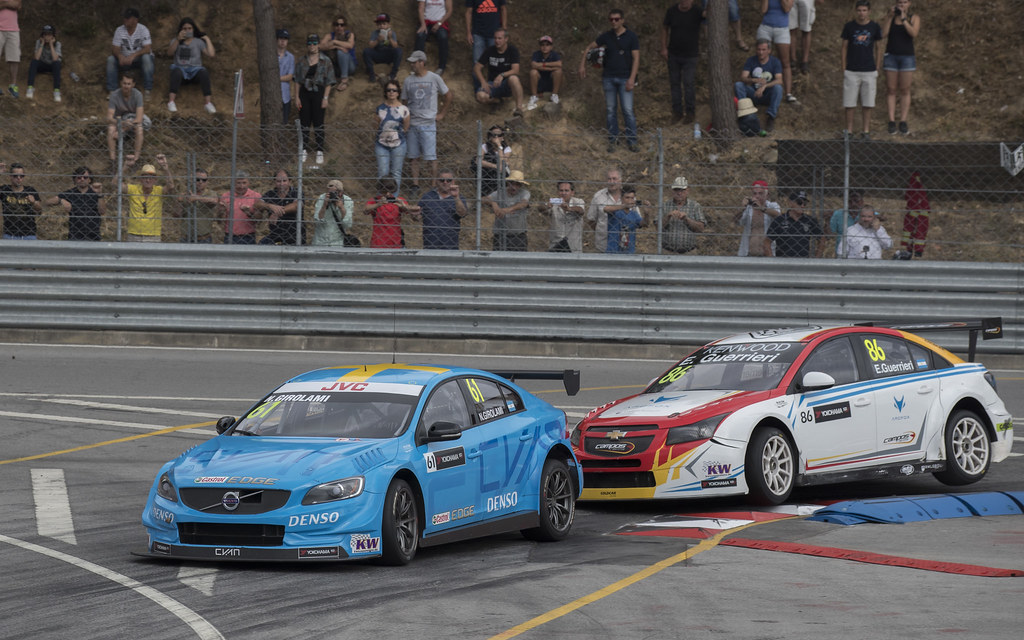 61 GIROLAMI Nestor (arg) Volvo S60 Polestar team Polestar Cyan Racing action during the 2017 FIA WTCC World Touring Car Championship race of Portugal, Vila Real from june 23 to 25 - Photo Gregory Lenormand / DPPI