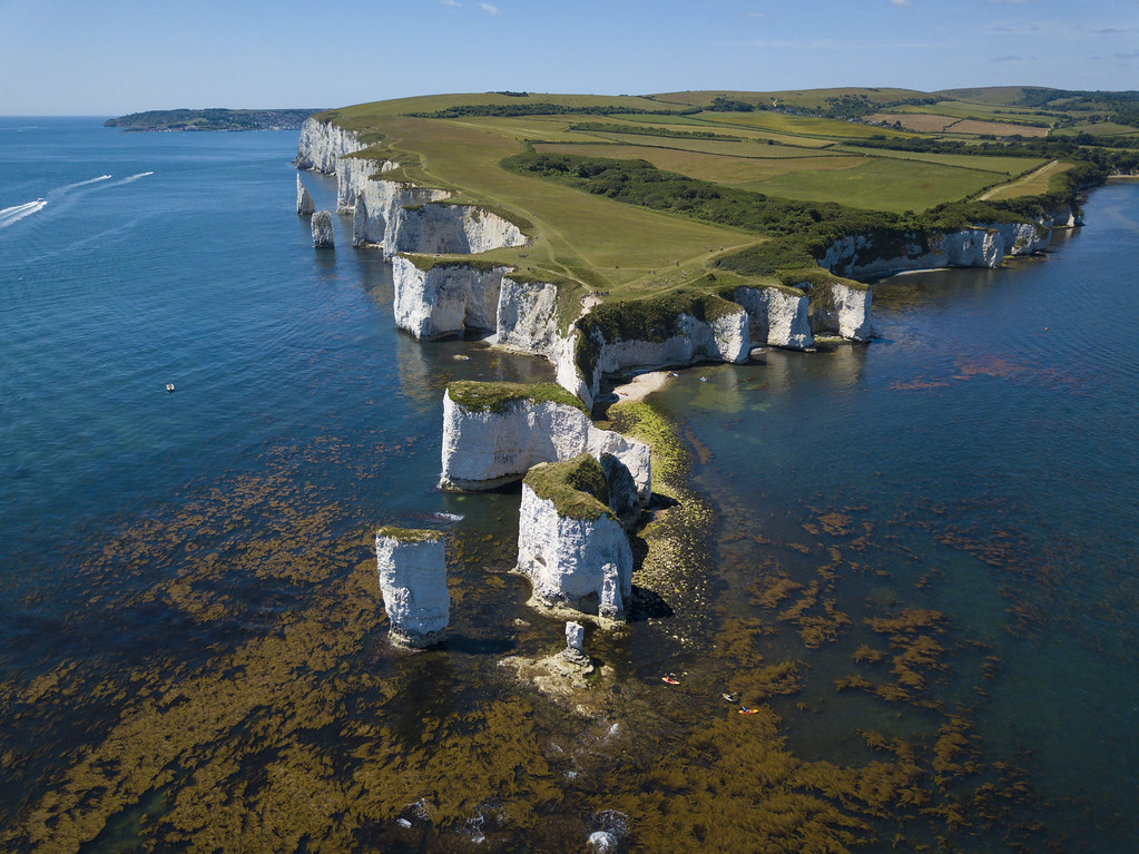 The Foreland and Old Harry - Click to show full size