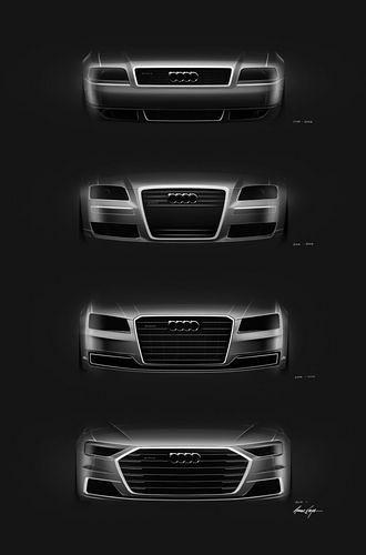 Audi A8 maska evolucija