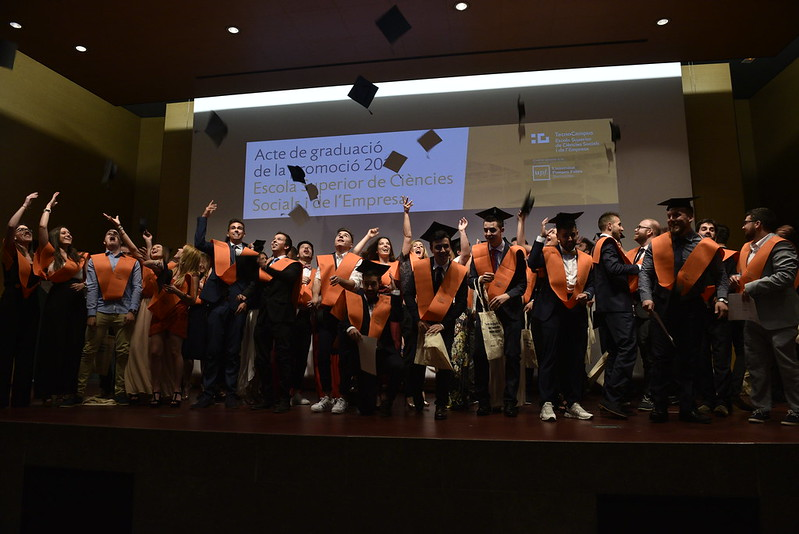 Acte de graduació de l'Escola Superior de Ciències Socials i de l'Empresa 2017