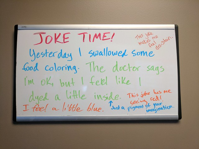 Joke Board: Dyed a little inside