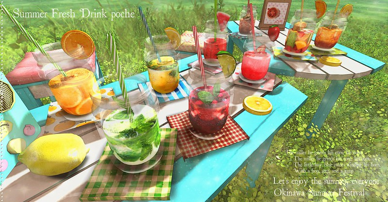 summer fresh drink poche