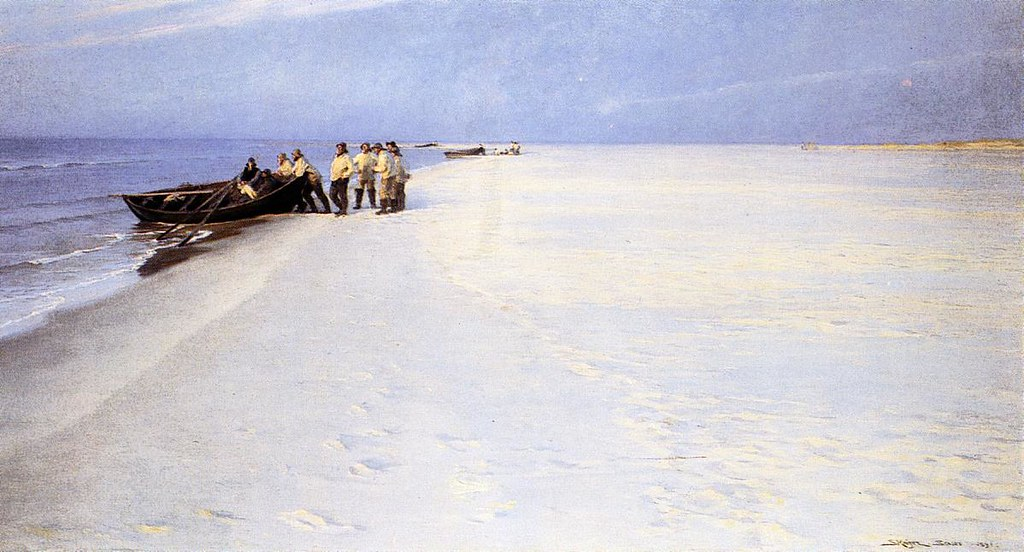 Fishermen on the Beach at Skagen byPeder Severin Kroyer, 1891