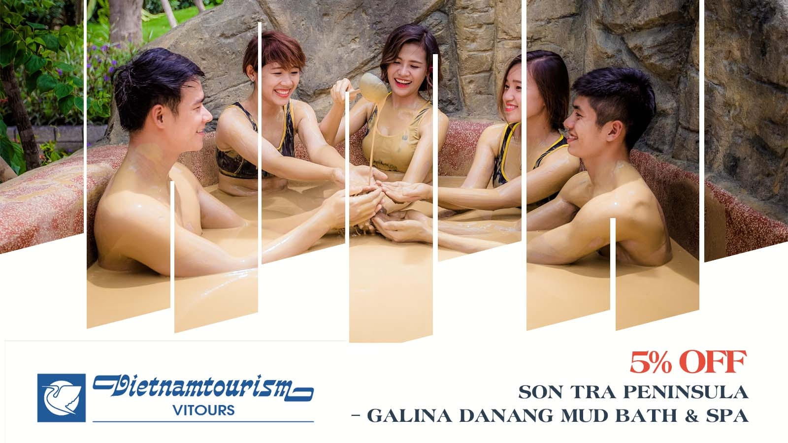 Vitours 5% OFF Son Tra Peninsula – Galina Danang Mud Bath & Spa 1