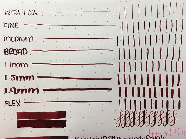 Ink Shot Review Diamine Anniversary Burgundy Royale @AppelboomLaren 3