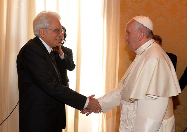Nước Ý: Đức Phanxicô thăm Tổng thống Ý Mattarella