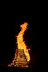 Midsummer bonfire in Voujeaucourt, 17 Jun 2017
