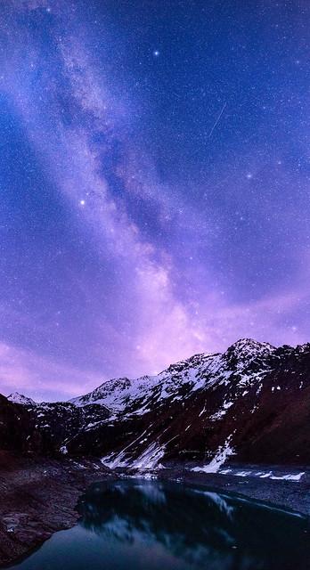 Milkyway on Cleuson Dam