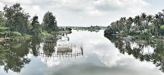 The view from the An Bang bridge over the Vin Cua Dai river near Hoi An, Vietnam.