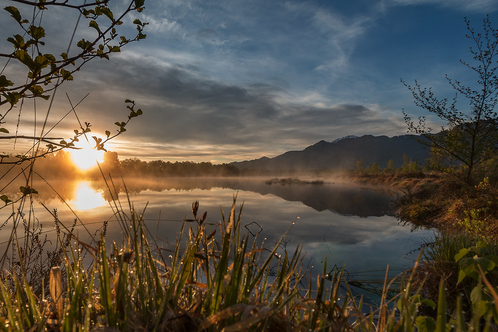Sonnenaufgang in der Grassauer Kendelmühlfilzen