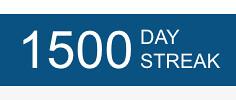 Marks 1,500 days at MyFitnessPal
