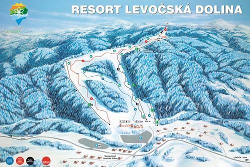Levočská dolina - mapa sjezdovek