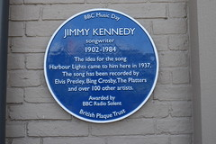 Photo of Jimmy Kennedy blue plaque