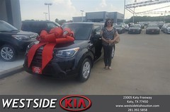 Happy Anniversary to Becky on your #Kia #Soul from Antonio Page at Westside Kia!