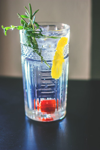 Gin and Tonic cocktail, aperitif, summer drink, drinking gin
