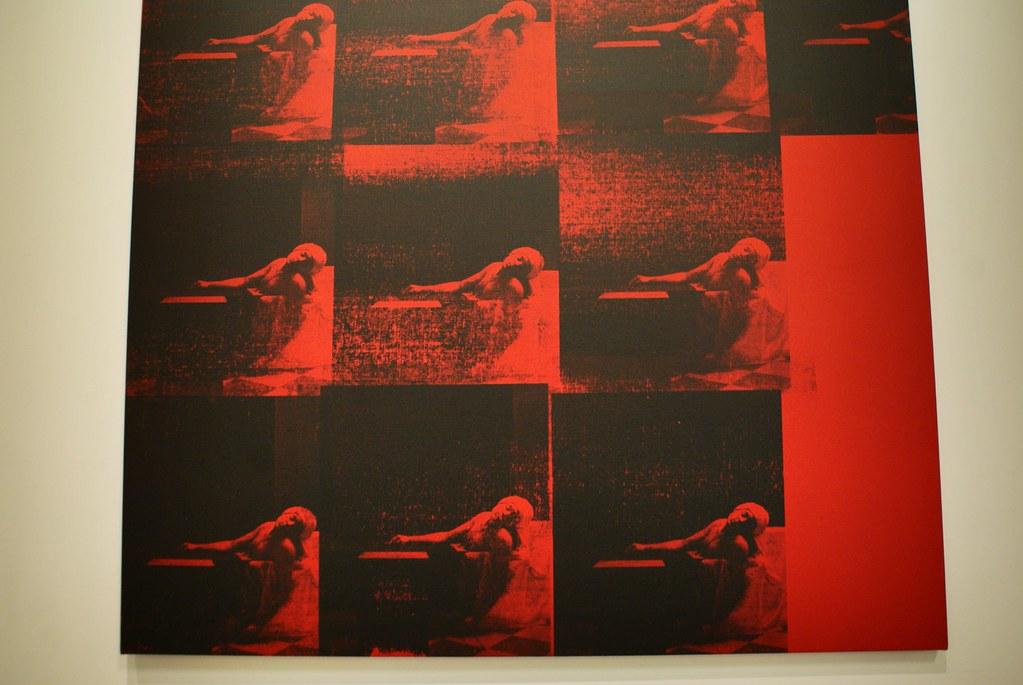 Pochoir à la Warhol : «Red Marat» de l'artiste Gavin Turk au musée d'art contemporain de Cracovie (Mocak).