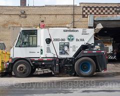 Sanitation Street Sweeper Truck, West Bronx, New York City