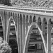 Small photo of Abandoned US 101 bridge over the Arroyo Hondo
