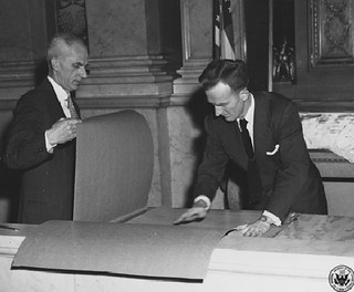Photograph of Removing the Documents Prior to Transfer to National Archives