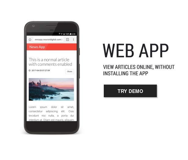 Templat Aplikasi Berita Utama - 7