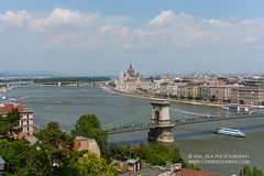 Budapest, view on Danube river and Pest