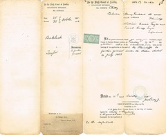 2nd Summons issued to William Francis Taylor & Mother, Sarah Knap Taylor, to appear as Defendants in the Case of Henry Birkbeck, Plaintiff 25 Oct. 1888