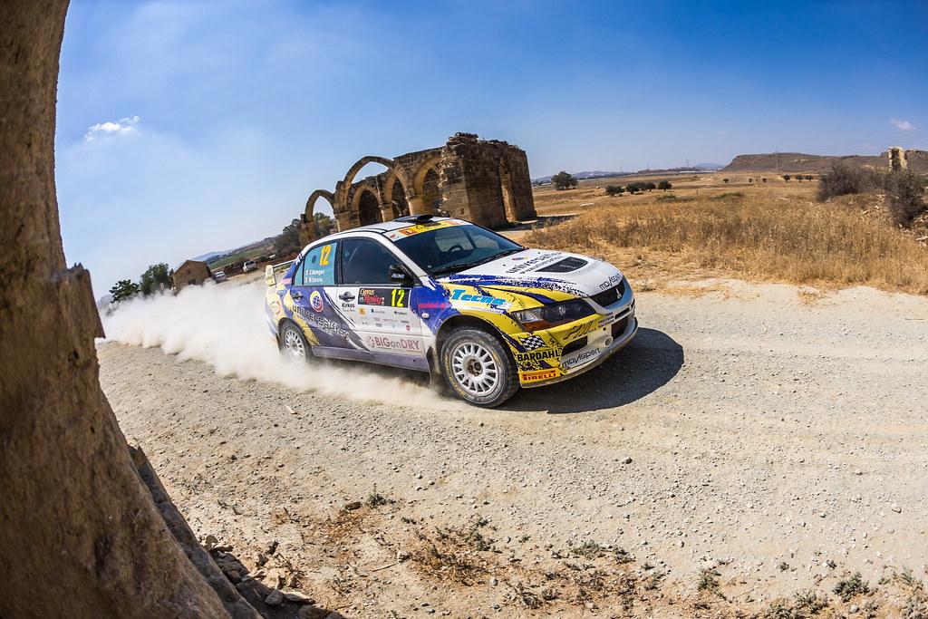 12 MELEGARI Zelindo (ita) and BARONE Maurizio (ita) ZELINDO MELEGARI MITSUBISHI LANCER EVO IX action during the 2017 European Rally Championship ERC Cyprus Rally,  from june 16 to 18  at Nicosie, Cyprus - Photo Thomas Fenetre / DPPI