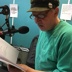 Your Heterosexual Violence, Gerry Mitchell and Minnie Micros performing live in session on The deXter Bentley Hello GoodBye Show on Resonance 104.4 FM in Central London on Saturday 24th June 2017
