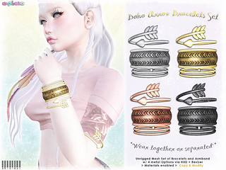 [ bubble ] Boho Arrow Bracelets Set