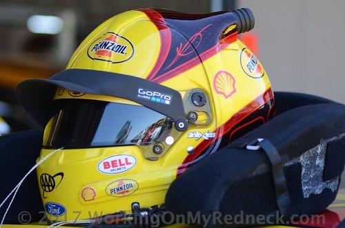 Joey Logano's helmet