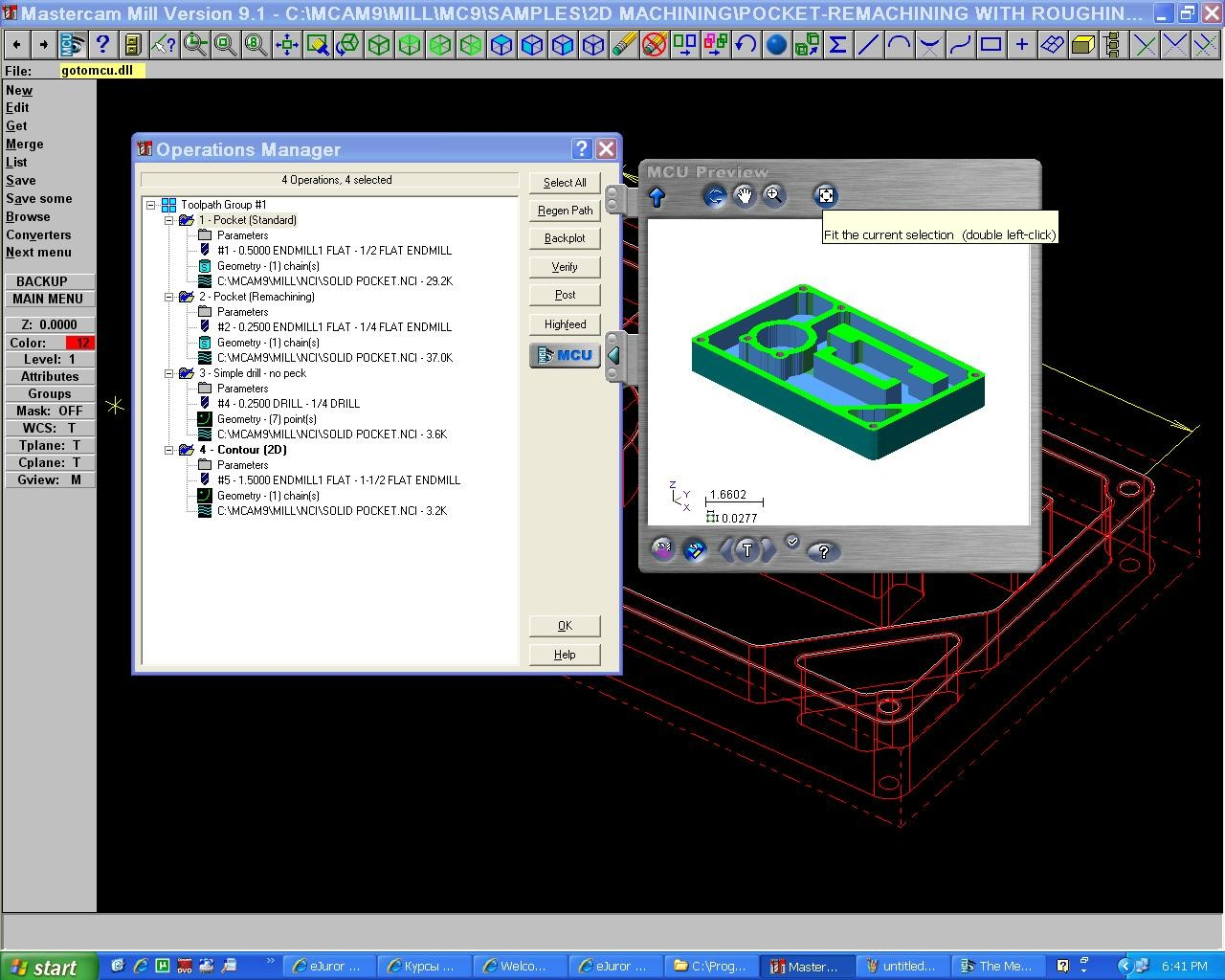 Create toolpath with Mastercam 9.1 full license