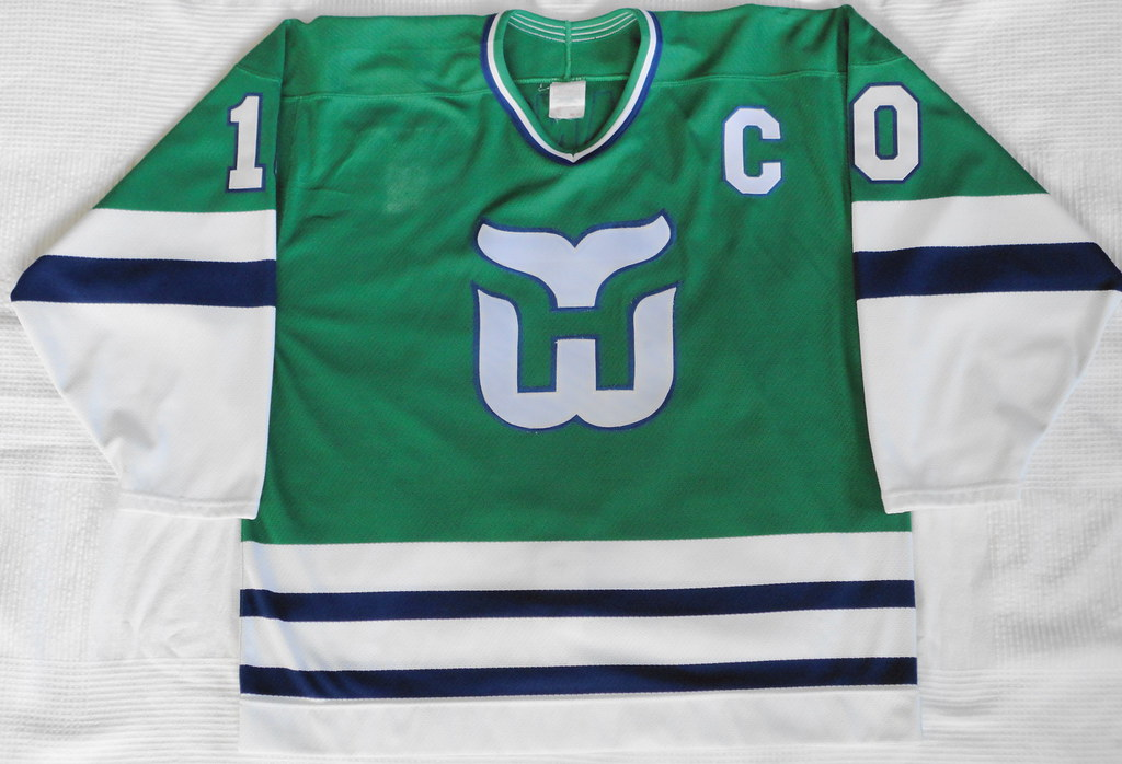 1989-90 Ron Francis Hartford Whalers Away Jersey Front
