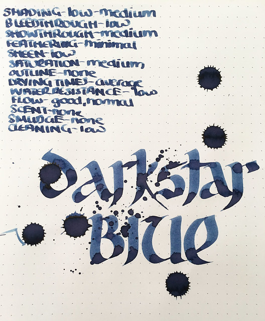 Ink Shot Review @RobertOsterInk Darkstar Collection @dkstrcollection 7