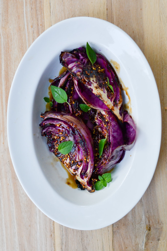 Grilled Red Cabbage with Mustard Sauce | Things I Made Today