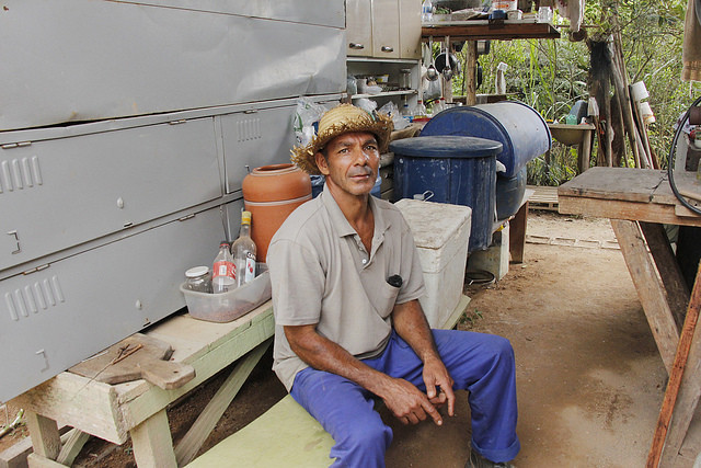 Farmer Lúcio da Silva Pimenta, one of the displaced by Anglo American - Créditos: Joana Tavares | Brasil de Fato MG