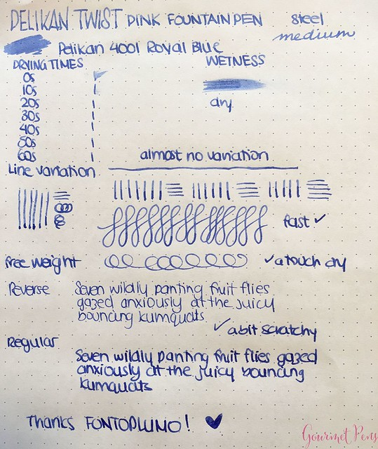 Review Pelikan Twist Fountain Pen @Fontoplum0 14