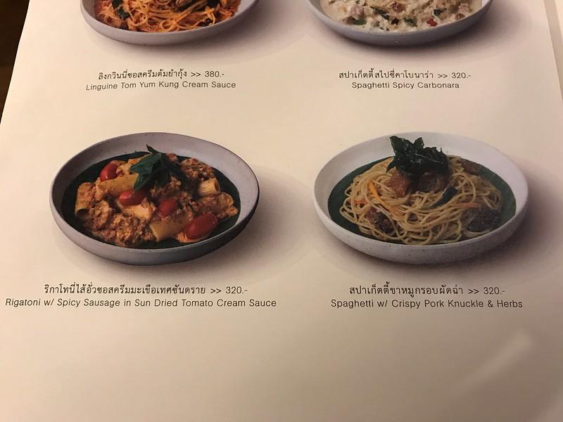 Pasta Menu - Vanilla Homecafe in Silom Complex