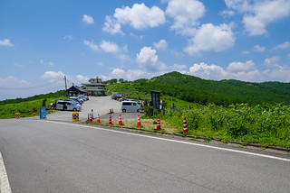 賑わう野反湖富士見峠