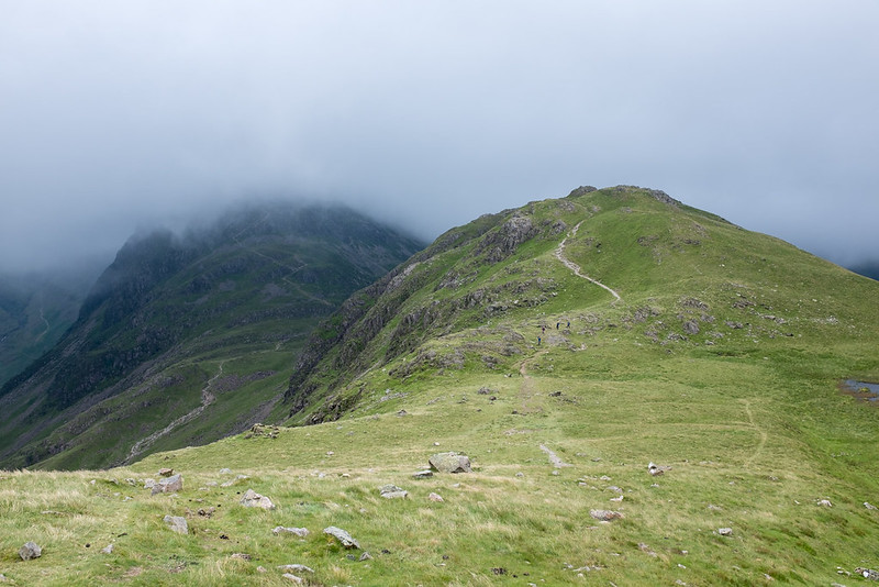 Looking back to Seat, with Haystacks behind