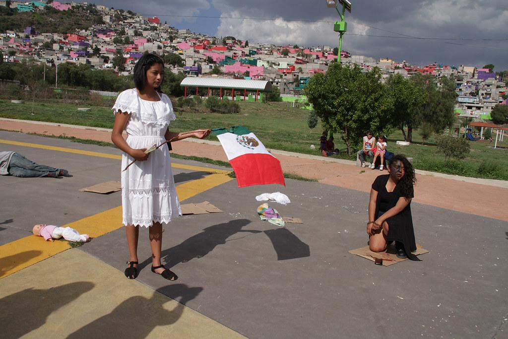 Pedagogía del Performance Epo 128 Francisco Villa, Ecatepec, Edomex Fotografía Clauzzia Gómez