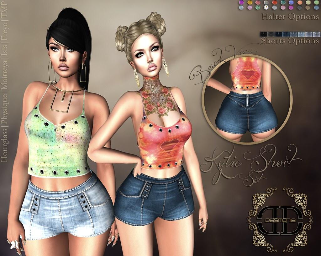 Kylie Shortset Fatpack - SecondLifeHub.com