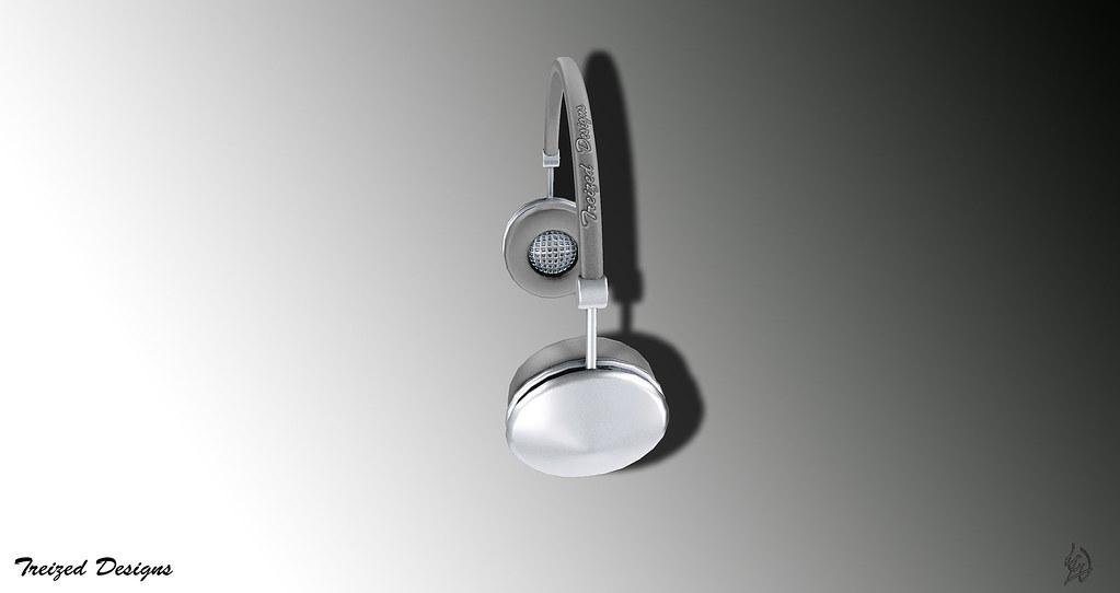 -Treized Designs-Silver headphones - SecondLifeHub.com
