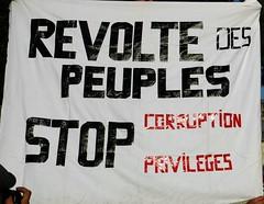 r�volte des peuples, STOP  corruption privil�ges